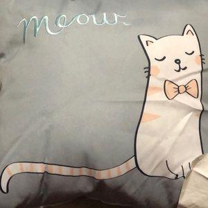 New 16x16 meow cat pillow